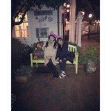 画像: ダッフィちゃんと ゆりたんと めっちゃ光ってるけんど…  #disneysea  #ダッフィー #親友ちゃん  ʕ⋈•◡-ʔあーたのしかったありがとう www.instagram.com