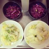 画像: #白菜のクリーム煮 #紫キャベツ#ラペ#くるみ#クランベリー#レーズン#パンプキンシード#ビネガー#ブラックペッパー#ソルト#cooking#lunch www.instagram.com