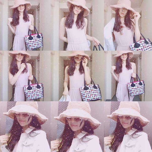 画像: 麦わらぴんくちゃん帽子   ヨガ行くのに服着るのめんどくさくていつもヨガウェアで電車乗っちゃう… ぜんぶぴんくちゃんと白にした#ピンクコーデ #ピンク大好き #ピンクちゃん #code #kahri #lipstick #bag #帽子 #sun ... www.instagram.com