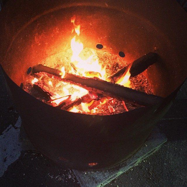 画像: #焚き火 #暖かい #冬