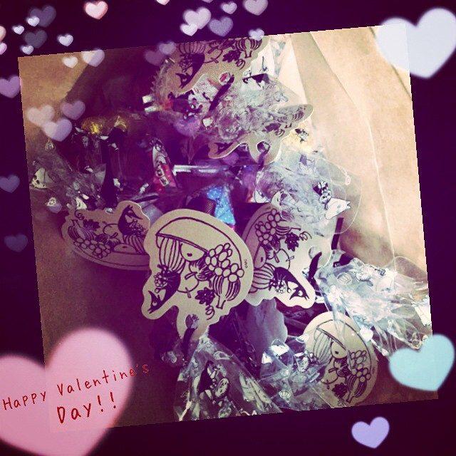 画像: #バレンタイン #チョコ #感謝 #友達 #2月14日 #happy チョコの詰め合わせ❤︎
