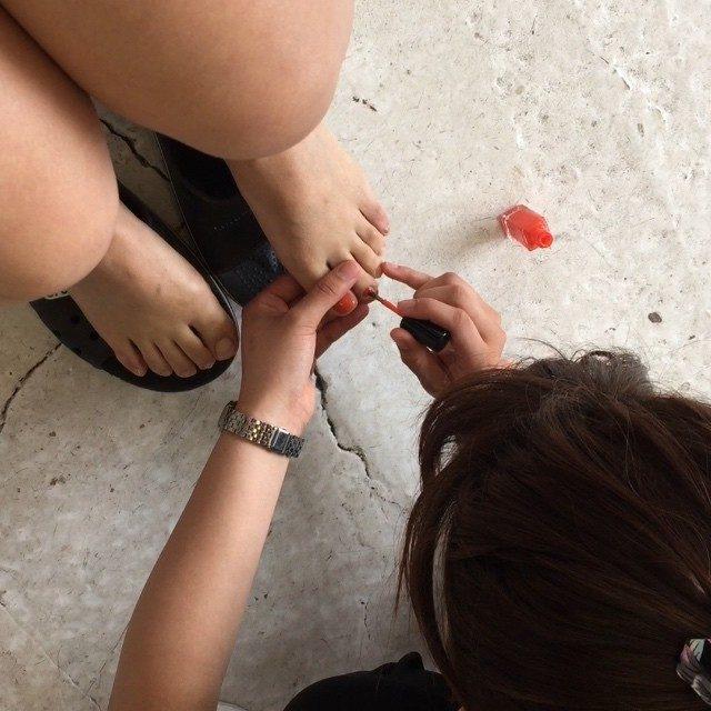 画像: #撮影 #ルームシェア #roomshare #nail #ネイル #POP #model  #Japanese #cute #self  撮影でネイルしたよん! instagram.com