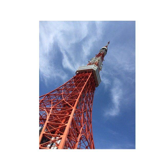 画像: #japan #TOKYOtower  #よじ登ってみたい #絶対下見れない  なぜならば… #高所恐怖症 instagram.com