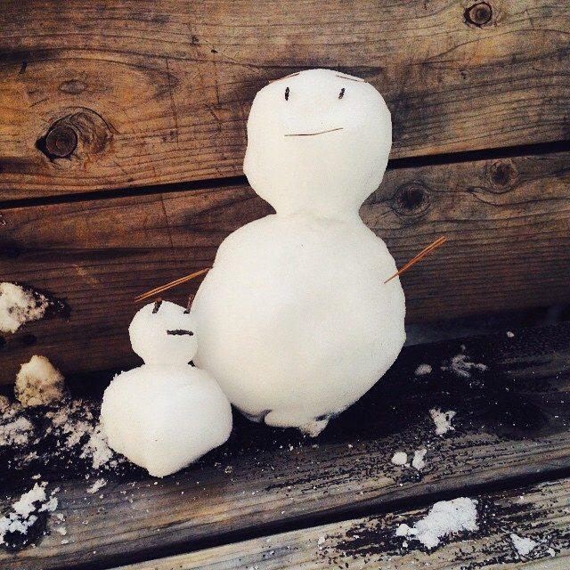 画像: ゆきだるま♡ #雪 #ゆきだるま #草津