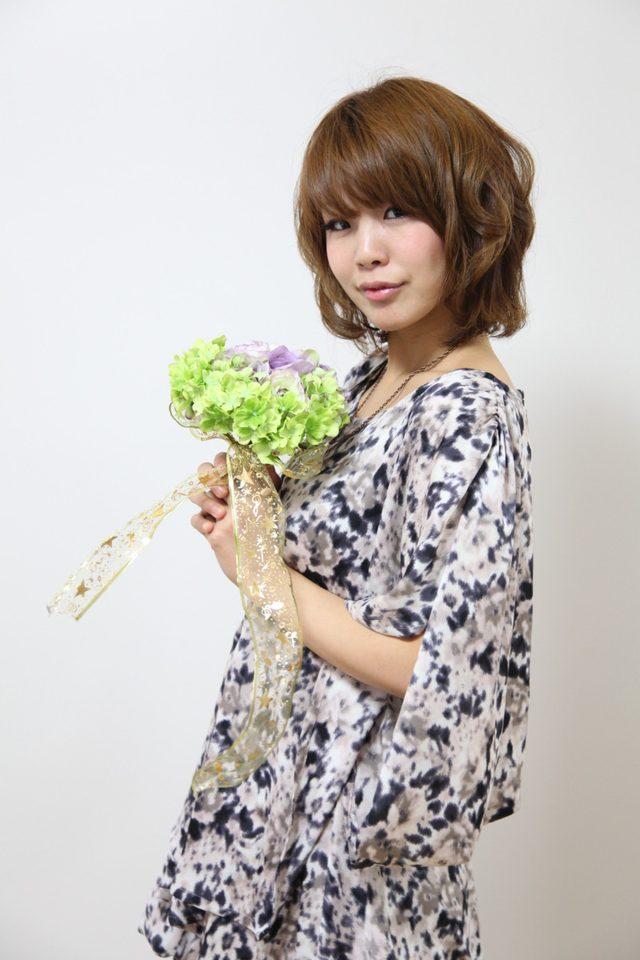 画像: 花モデル MAAMIさん: フラワーアーティスト奈央の個人コンサル
