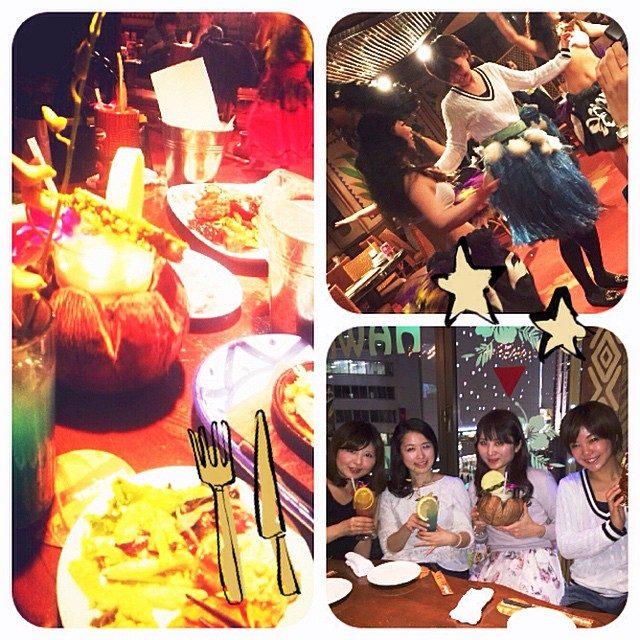 画像: 女子会♡ 新宿のTIKITIKIさんへ^ ^ フラダンスしたよ〜♡ #女子会 #TIKITIKI #フラダンス instagram.com