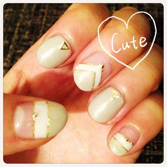 画像: 今回は落ち着いて♡ フレンチデザインに^ ^♡ #nail  #new  #フレンチ instagram.com