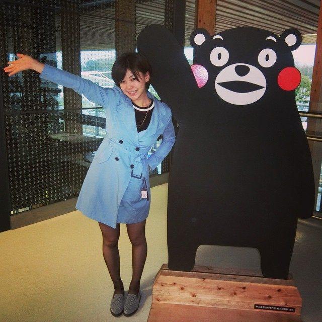 画像: 福岡〜熊本♡ さいきん九州での仕事が増えたから、ちょこちょこ帰れて嬉しい♡^ ^ 今回は家族で過ごしたよ〜! また近々帰ります♡ ばーい♡ #熊本大好き #くまモン #阿蘇熊本空港 instagram.com