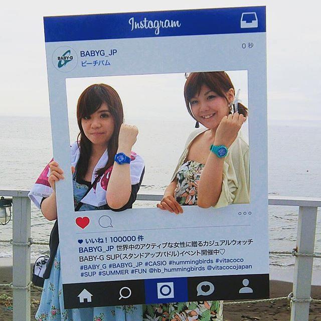 画像: #ビーチバム で #BABY_G さんのイベント♡ アクティブな女性に 是非オススメ〜*\(^o^)/* 今年の夏たくさん愛用しそう♡ #BABYG_JP #スタンドアップパドル instagram.com