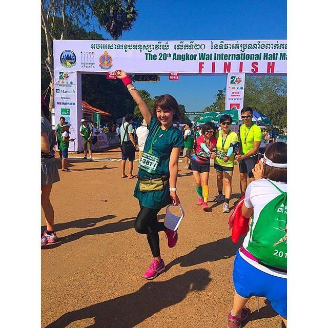 画像: ✳︎ #アンコールワット国際ハーフマラソン♡ 無事に完走しました*\(^o^)/* #総研マラソン #runwithmanulife #カンボジア #ハーフマラソン #travel #likes #like4like #likeforlike #t ... www.instagram.com