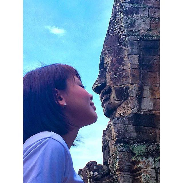 画像: ✳︎ ちゅっ♡ #me #maami #angkorthom #アンコールトム #シェムリアップ #カンボジア #travel #likes #like4like #likeforlike #tagsforlikes #follow #follow ... www.instagram.com