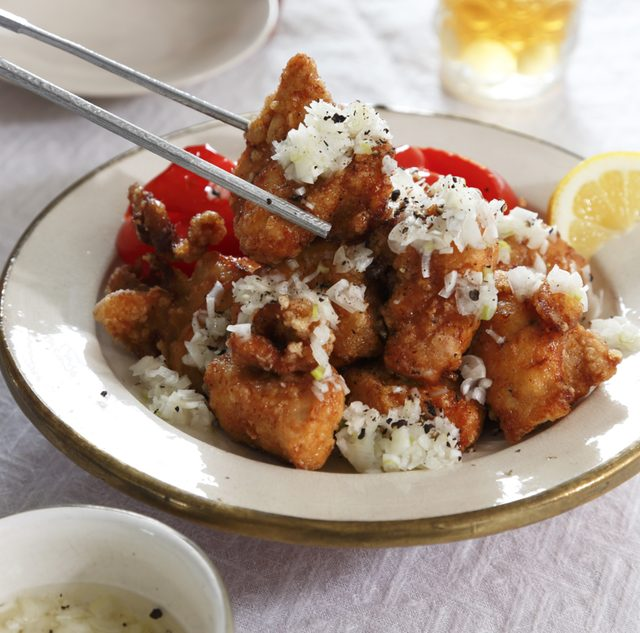 画像: 鶏のから揚げ ねぎ塩だれ