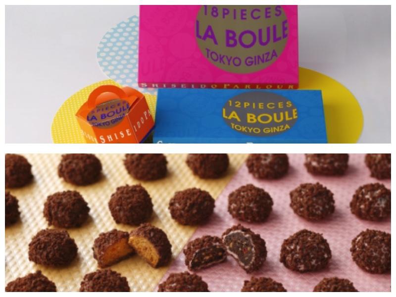 画像: ●『東京ラ・ブール』  5個入540円/12個入1,080円/18個入1,620円 (5個入:ストロベリー2個、塩キャラメル3個/12個入:各6個/18個入:各9個) サクッとしたクッキーにチョコレートをコーティングし、仕上げにチョコクランチを纏わせました。軽い食感、けれど味わいはしっかりチョコの不思議なスイーツ「東京ラ・ブール」。ストロベリーと塩キャラメルの2種の味をお楽しみください。 ストロベリー:サクっとしたほろ苦いブラックココアクッキーに甘酸っぱいストロベリーチョコレートをコーティング 塩キャラメル:フランス産ゲランドの塩がアクセントであるキャラメル味のクッキーにミルクチョコレートをコーティング 販売場所: 東京駅セントラルストリート店・羽田空港内売店(8月中旬販売開始予定)・関越道三芳下りハイウェイショップ(8月中旬販売開始予定)