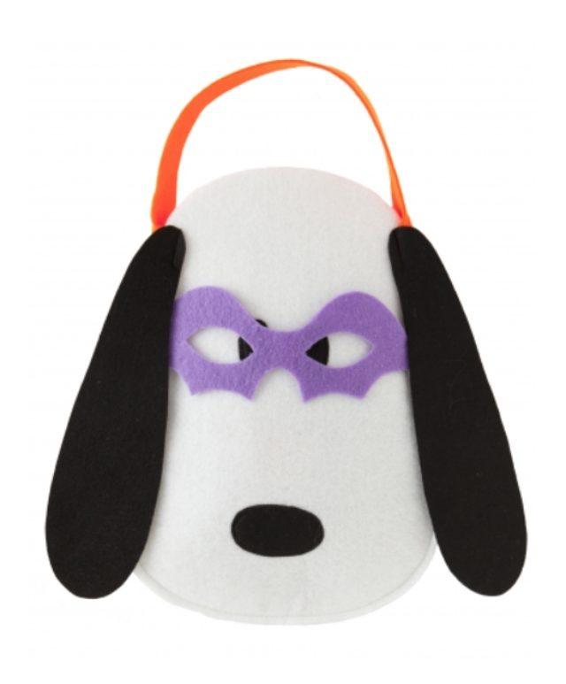 画像: クッキーとスナックが入ったバッグ。マスクをつけたスヌーピーがキュート。 スヌーピー ハロウィン アイマスクつきバッグ 900円(税抜)