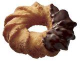 画像: ・チョコ(129円) ココナツを練り込んだザクザクとした食感が特徴のケーキドーナツに、チョコレートをコーティングしました。