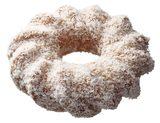 画像: ・ココナツ(129円) ココナツを練り込んだザクザクとした食感が特徴のケーキドーナツに、ココナツをまぶしました。