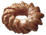 画像: ・メープル(118円) ココナツを練り込んだザクザクとした食感が特徴のケーキドーナツに、メープル風味のグレーズ(糖蜜)をコーティングしました。