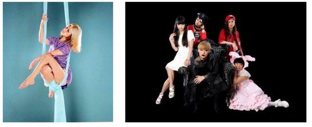 画像: ACT 左)Widow Spider Aerial: KOZUE 右)Widow Spider Dancers: 東京ゲゲゲイ