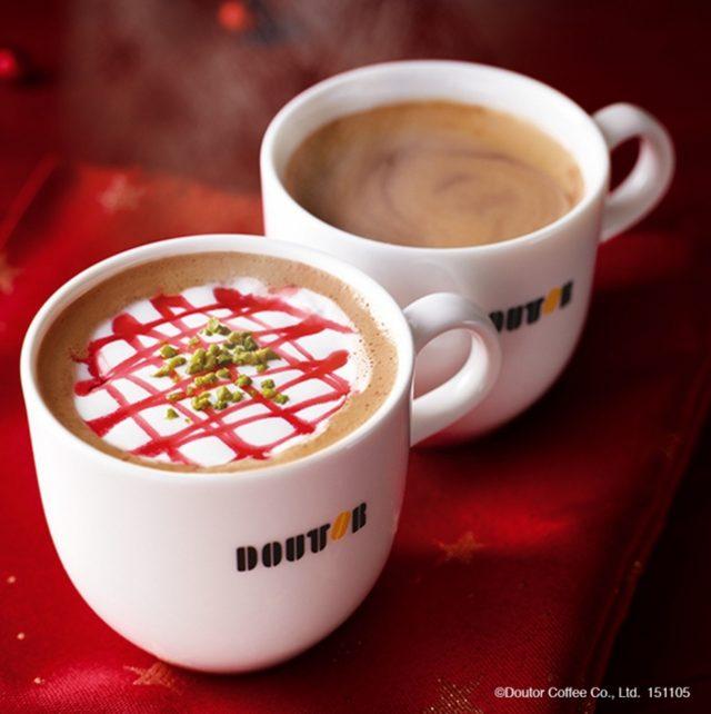 画像: 【商品名】 カフェ・ショコラ (ホット/アイス) 【商品価格】 S340円(税込)~ 香り高いドミニカ産のカカオ豆にガーナ豆をブレンドした「クーベルチュール」のチョコレートベースに、エスプレッソを加えたドリンクです。エスプレッソを入れることで、チョコレートの風味を引き立て、すっきりとした味わいに仕上げました。 【商品名】 カフェ・ショコラ フランボワーズ(ホット/アイス) 【商品価格】 S380円(税込)~ カフェ・ショコラをベースに、甘ずっぱいフランボワーズソース、まろやかな甘みのホイップクリームとピスタチオをトッピングした、フルーティーで華やかなチョコレートドリンクです。是非いちどお試しください。