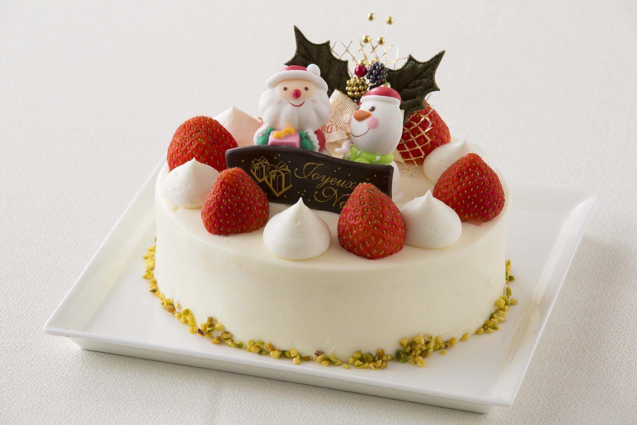画像: クリスマスショートケーキ ¥4,000 直径15cm 高さ6cm 甘さひかえめの軽い生クリームで仕上げたストロベリーショートケーキです。