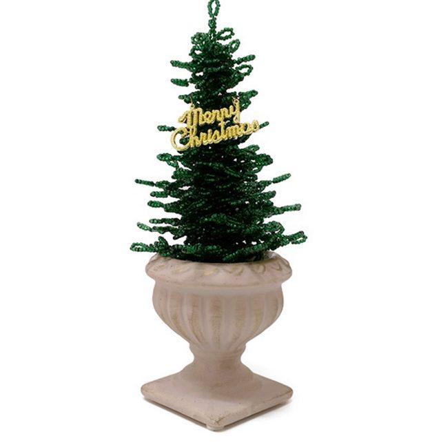画像: クリスマスツリー ビーズグリーン lupihapi.com