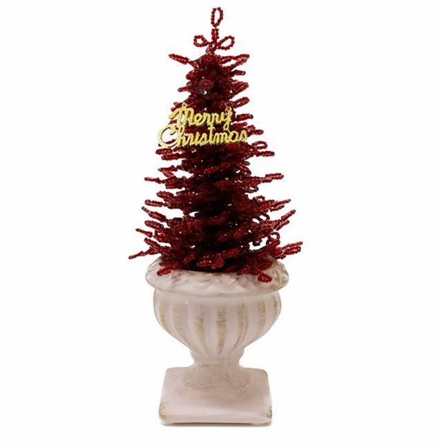 画像: クリスマスツリー ビーズレッド lupihapi.com