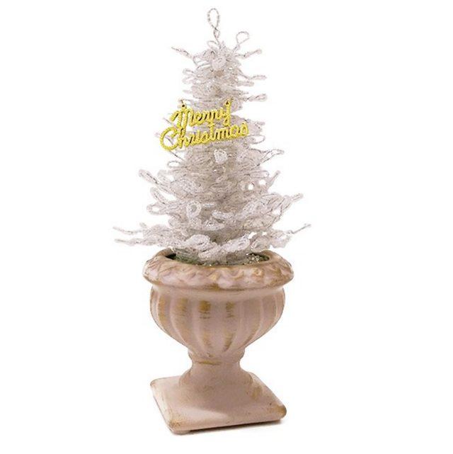 画像: クリスマスツリー ビーズホワイト lupihapi.com