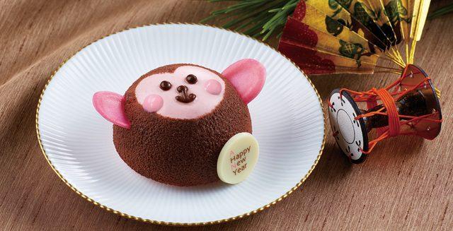 画像: 商品名 : 干支のケーキ「ハッピーモンキー」 価格  : ¥540(税込) 販売期間: 2016年1月1日(金)~1月27日(水) ※販売開始日は各店の年明け第一営業日により異なります。