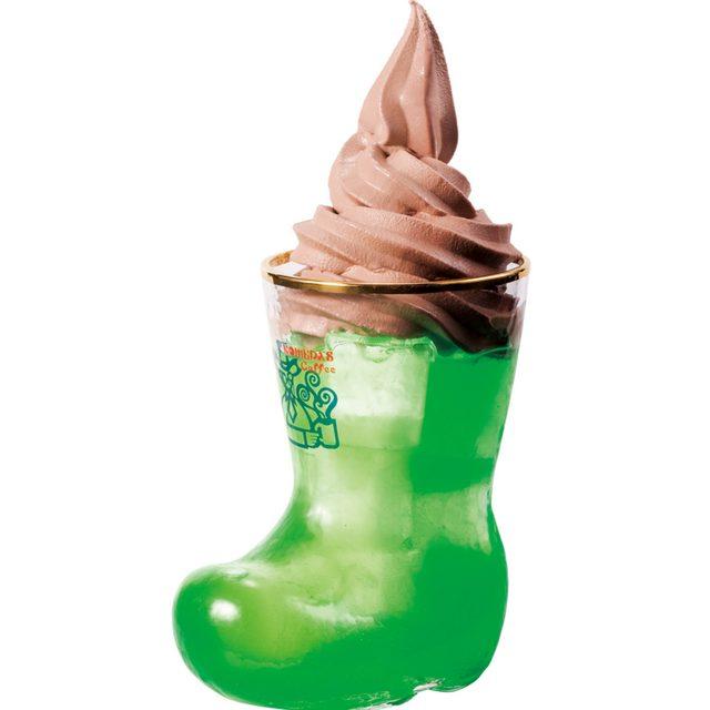 画像: クリームソーダにチョコソフト!?