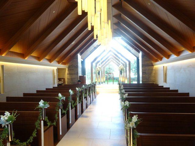 画像: 90名収容のチャペル。 教会式・人前式対応可。