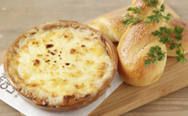 画像: 里芋味噌マヨネーズグラタン 天然酵母パン添え 900円