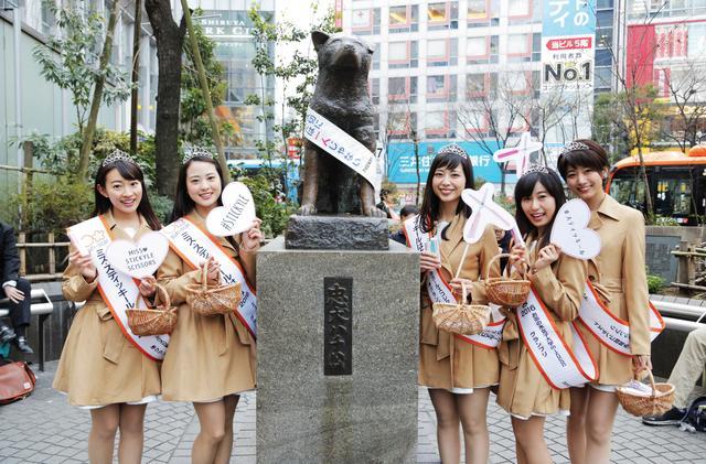 画像: 渋谷のシンボル「ハチ公」と記念撮影