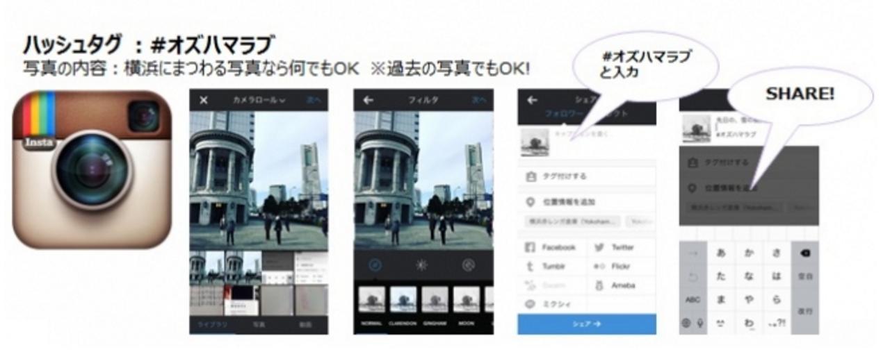 """画像: OZの""""ハマラブ""""キャンペーン 応募の方法"""