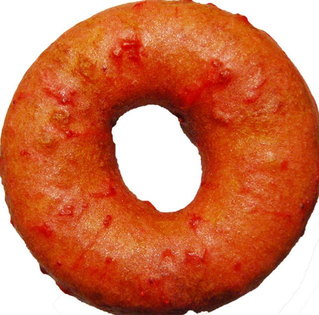 画像: ■ストロベリー&ストロベリージャム 270円(税込) しっとりしたケーキドーナッツに自家製のストロベリージャムを詰め、苺の果肉感たっぷりのストロベリーグレーズでコーティングしました。ほんのり甘いバニラ生地と甘酸っぱいストロベリージャムが相性抜群です。