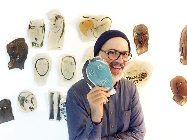 画像: ブルックリン在住のイラストレーターによる最新セラミックアートとレザーバッグ。本人も来日!「ブルーノ・グリッツォ」セラミック19,440円