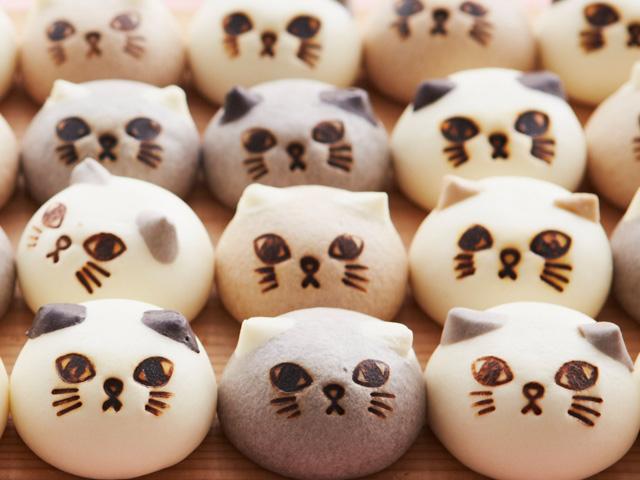 画像: 猫の形のスウィーツまん「ニャムチャ」