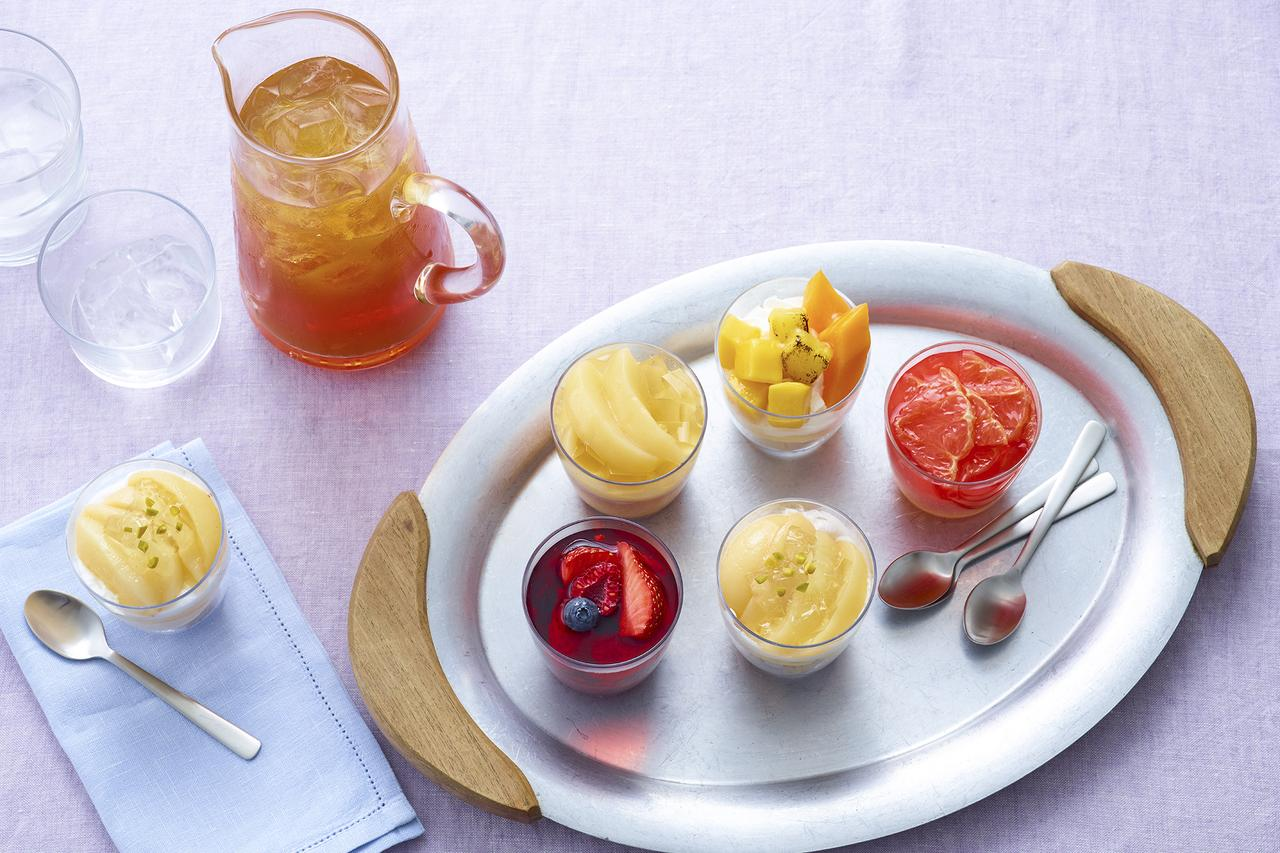 画像: 甘く香るみずみずしい桃やグレープフルーツを使ったひんやりスイーツ