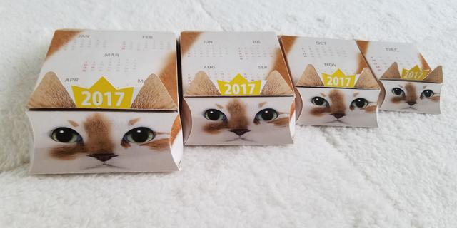 画像1: 日本初!まるでマトリョーシカ?? 箱の中から次々と猫が出てくる 2017年仕様『ネコリョーシカカレンダー』