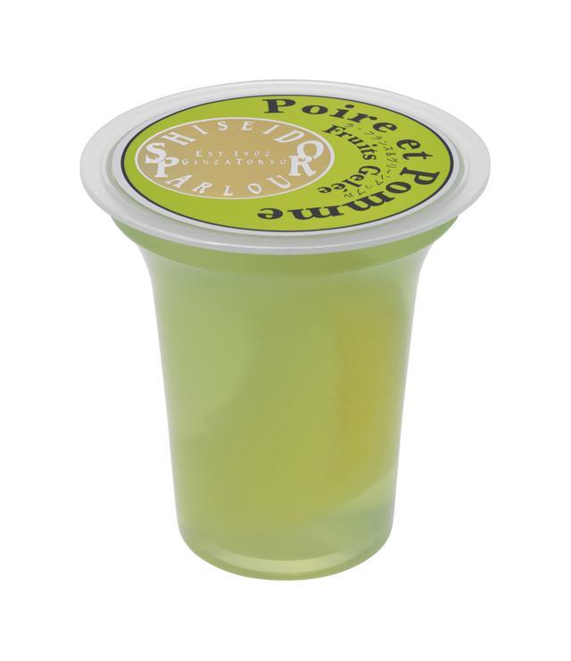 画像: ●ラ・フランス&グリーンアップル 芳醇な香りの山形県産ラ・フランスの果肉を、ほろっと繊細な口どけでさわやかな風味の青森県産青りんご・王林果汁のゼリーで閉じ込めました。