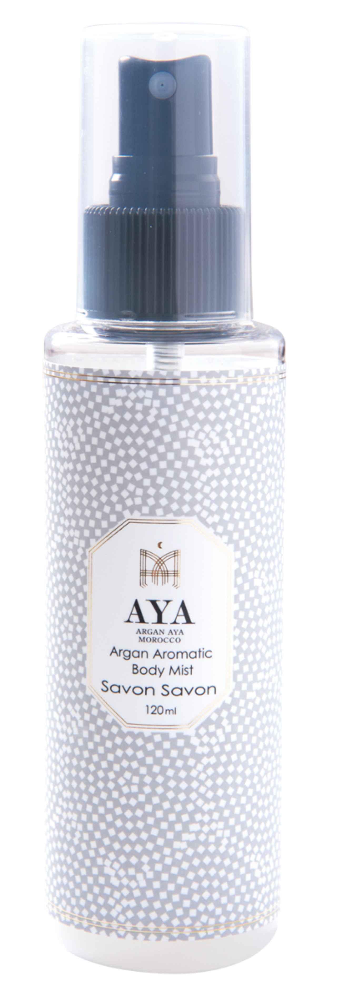 画像: 【店舗名】Silk oil of morocco-luxe style- 【商品名】アルガンアロマティックボディミスト(サボンサボン) 【価格】1,944円(税込) 当店はモロッコの黄金アルガンオイルの専門店です。『アルガンアロマティックボディミスト』はヒアルロン酸やコラーゲン、4種の植物由来の美肌成分入りボディミストです。女子力UPのほのかな香りで、みずみずしいサラ肌を実現します!