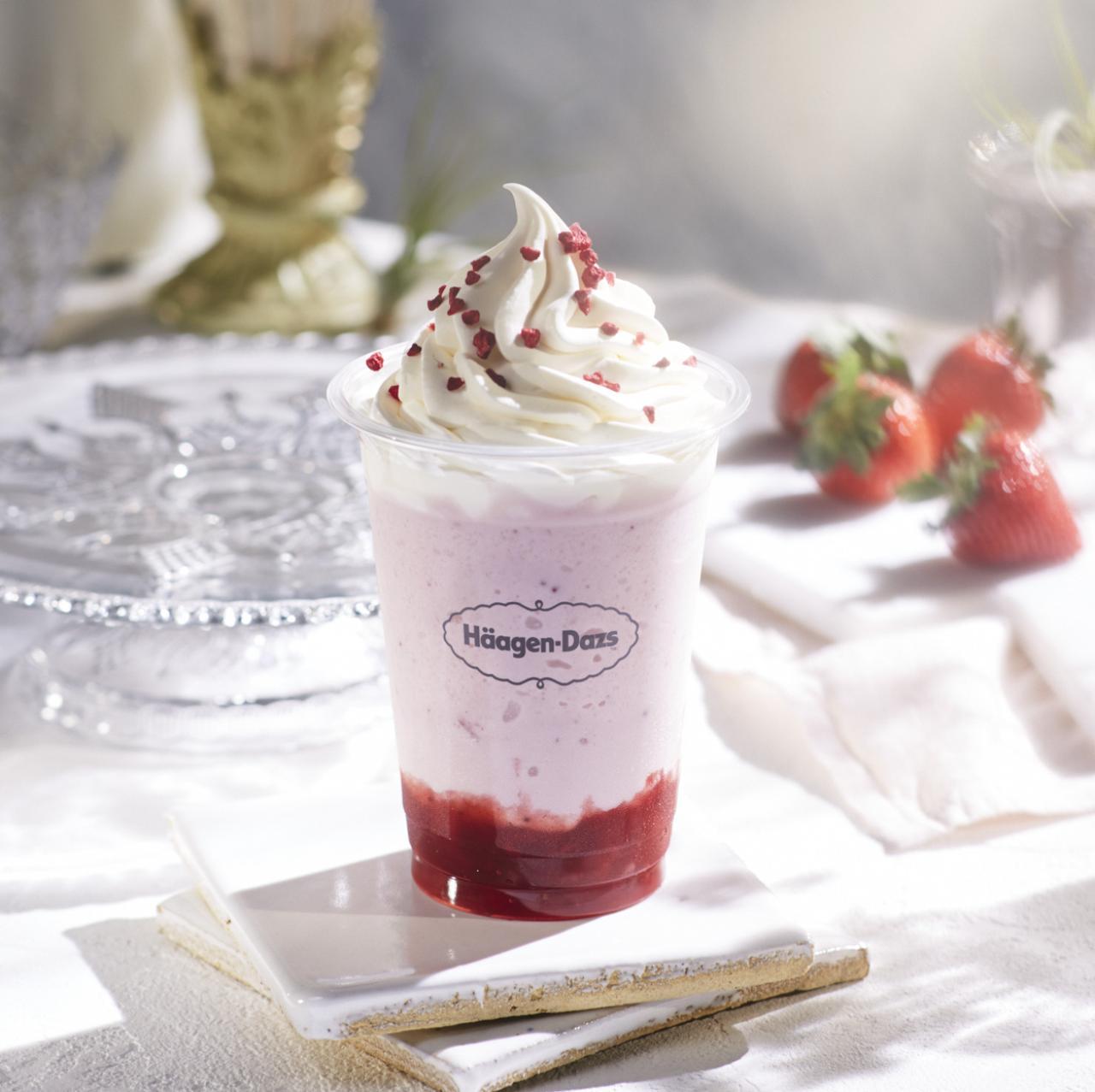 画像: ストロベリー シェイク with Häagen-Dazs strawberry ice cream ¥480(税抜き)