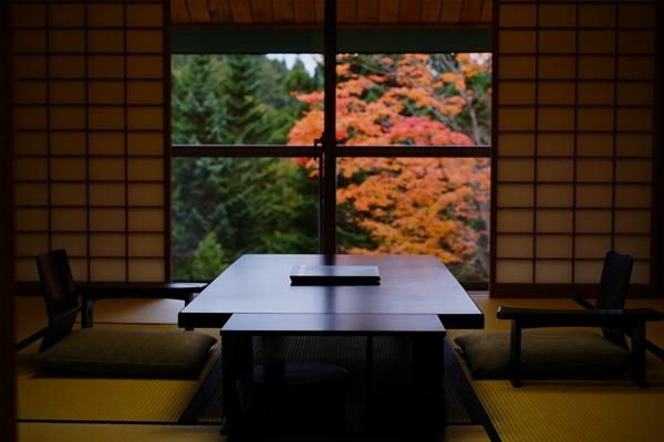 画像: 紅葉をひとり占め 夜はライトアップも楽しめる紅葉客室プラン