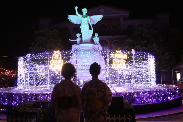 画像: 福の女神 映画の泉を開運ルーレットが走り女神が福を授けます。