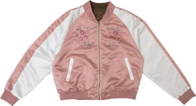 画像: ■リバーシブルスカジャン カラー:ピンク×カーキ・ネイビー×カーキ サイズ:M・L 価格:2,900円