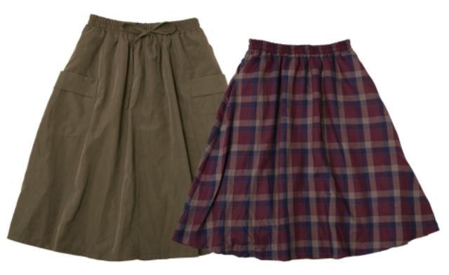 画像: ■リバーシブルポケットスカート カラー:カーキ×タータンチェック サイズ:M・L 価格:1,900円