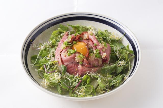 画像: ローストビーフボウル 1,000円(セットドリンク付) ガッツリ食べたいときにオススメなメニュー(ランチメニュー限定でご提供)。