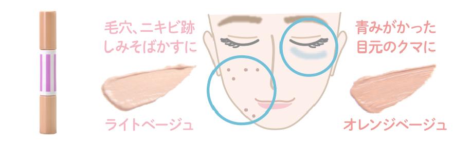 画像: お肌のトラブルは無かったことに!ストロボコンシ―ラー。しっとりとしたテクスチャーが肌にぴったり吸いつき、気になる部分をしっかりカバーします。ライトベージュ・オレンジベージュの2色をお悩み別に使い分けができ、2色混ぜ合わせれば自分の肌にしっかりあったコンシ―ラーに。