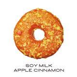 画像: ■豆乳アップルシナモン(ベーカリードーナッツ) 330円(税込) 無調整豆乳を使用した生地に、シナモンがふんわり香るアップルグレーズをコーティング。リンゴは皮ごとグレーズに使用しているので、シャリっとした食感もお楽しみいただけます。
