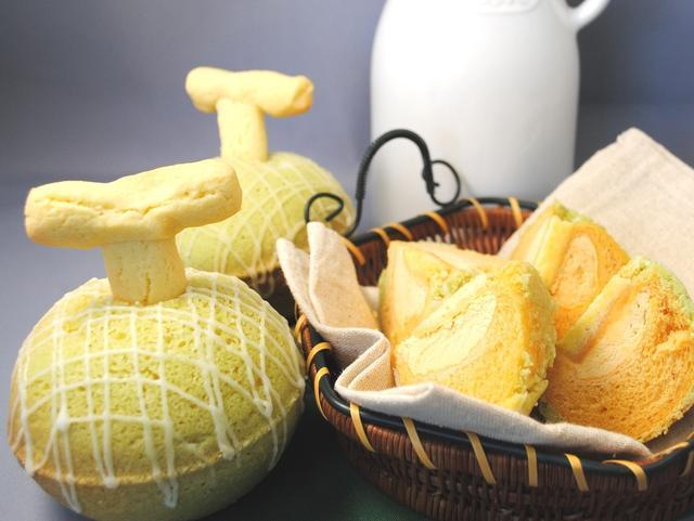 画像: 「フーズアンドブレッド」◎札幌市 なんちゃってメロンパン(2個入り)1,080円 まるでメロンのようなメロンパン。北海道牛乳100%を使ったもっちり焼きたてメロンパンです。