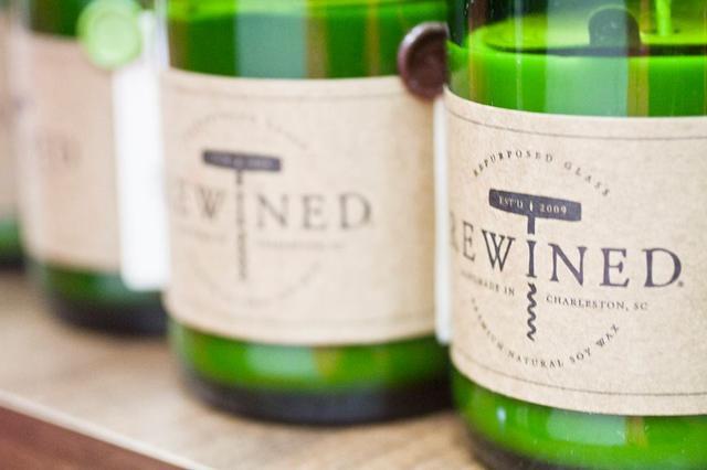 画像1: ワインボトルを再利用した手作りキャンドル『REWINED』